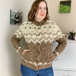 Vintage St Michael Wool Blend Cardigan Sweater